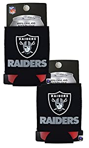 Official National Football League Fan Shop Authentic 2-Pack NFL Insulated 12 Oz Can Cooler (Las Vegas) from Kolder