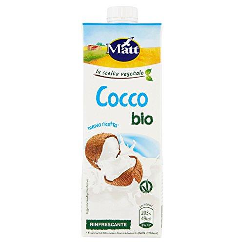 Matt - Cocco Bio - Bevanda Rinfrescante al Cocco - Vegetale, Senza Lattosio e Senza Glutine - 3 pezzi da 1 l [3 l]