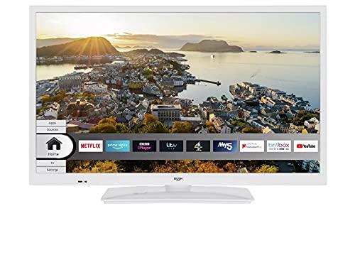 Bush 24 Inch Smart HD Ready HDR LED TV / DVD Combi - White