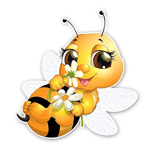 HUJL Car sticker Car Sticker Cute Little Bee Cartoon Waterproof Decal Funny Animal Pvc 14Cm x 15Cm