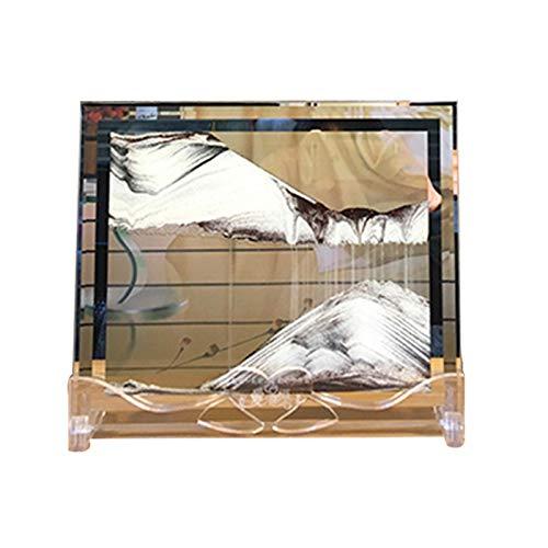 Monkys 3D-Landschaft Fließendes Sandbild, Kunst Doppelseitige bewegliche Sandmalerei Dynamisches Sandbild Fließende Sandmalerei Sanduhr