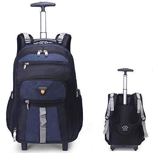 GLLSZ Wheeled Laptop Backpack di Rotolamento Scuola Impermeabile Laptop Bag Libro, Esterno Verticale Carry-On con/Zaino Si Adatta 26.2/28.9 inch Laptop Perfetto per I Viaggi,Hulan,26.2inches