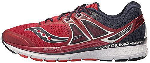 Saucony Triumph ISO 3, Zapatillas de Entrenamiento para Hombre, Rojo (Red/Navy), 42 EU