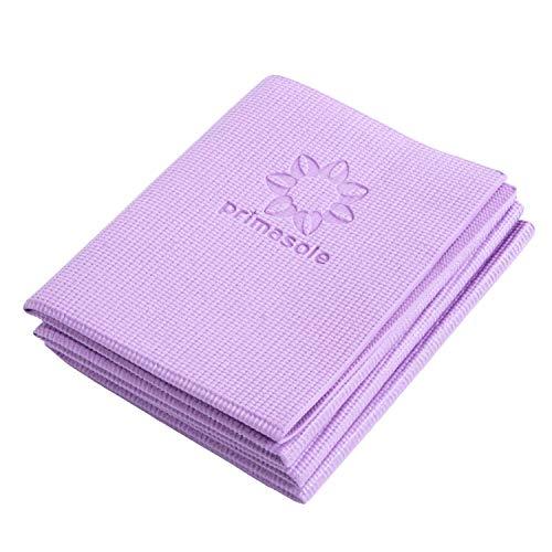 【Marca limitada de Amazon】Primasole Esterilla de yoga plegable de cuarzo color morado Fitness Pilates (68 pulgadas de largo x 24 pulgadas de ancho x 1/4 pulgadas de grosor) PSS91NH049A