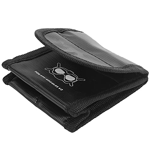 Bolsa de Seguridad para batería para Gafas de Vuelo dji FPV, Bolsa de Seguridad para batería de Lipo Resistente al Calor para Viajes, Almacenamiento y Carga(2 Batteries)