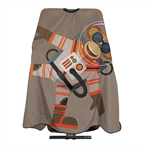 Lightweight Water Stain Resistant I'm A Monkey Space Astronaut Haircut Apron Salon Shawl 55 X 66 In