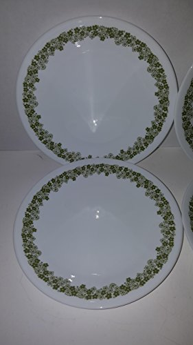 Corelle - Spring Blossom Green (Crazy Daisy) - 6-3/4' Bread & Butter Plates (Set of 4)