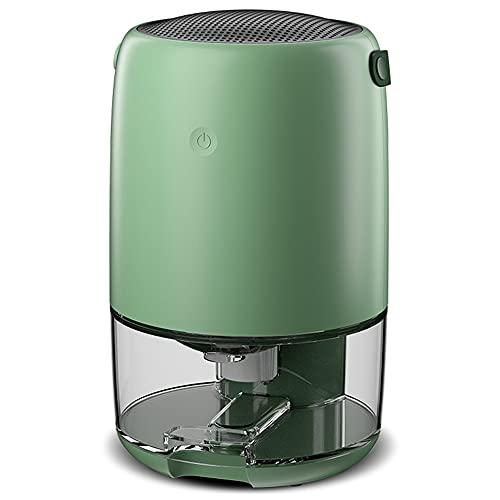 HXBH Deumidificatore Mini Deumidificatore Silenzioso 1100mL Deumidificatore per Ambienti Adatto per Home Office Armadio WC Deumidificazione e a prova di umidità/Verde