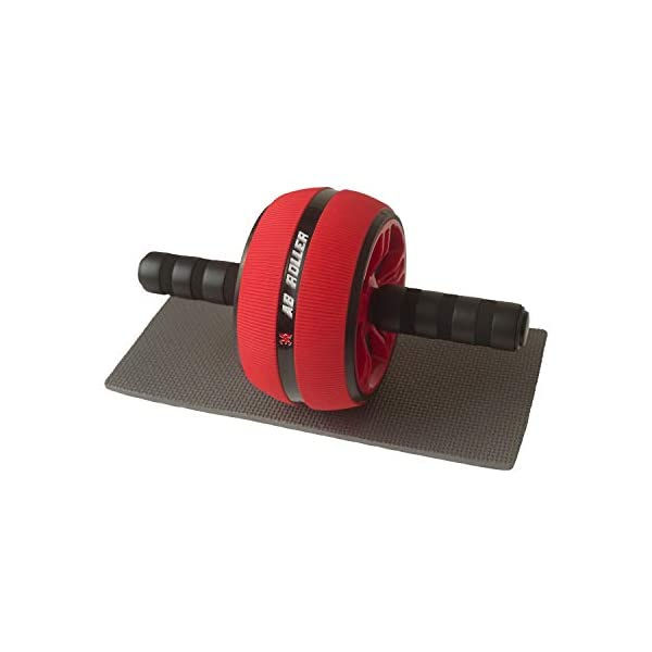 Ab Wheel Roller for Core Workout-Abdominal Exercise Wheel with knee Mat-Exercise...