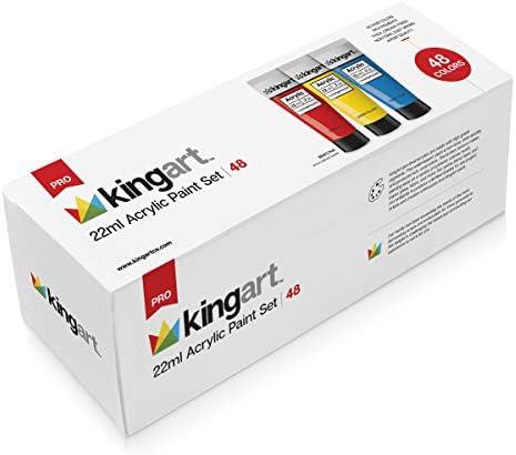 KingArt PRO Set ACRYLIC PAINT 48 ea Unique Colors Piece product image