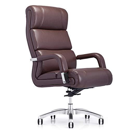 Lwieui Silla de Oficina Rotación de Cuero reclinables computadora de Oficina Presidente Ejecutivo del Ordenador de Escritorio y Silla con Respaldo Alto Las sillas de Escritorio