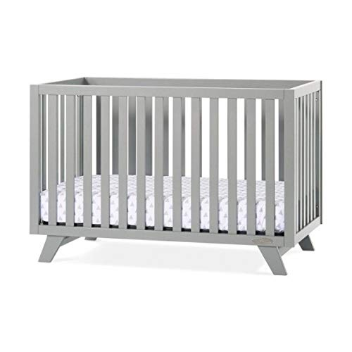 Child Craft F34001.87 9 x 34 x 68 in. Soho 4-in-1 Convertible Crib44; Cool Gray