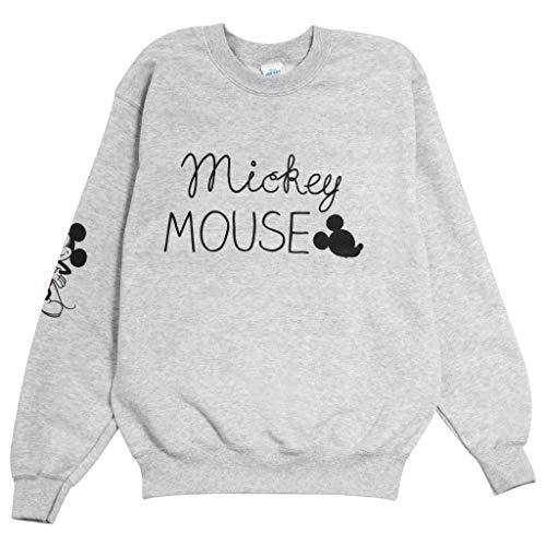 Disney Mickey Manga El Novio de la Mujer Fit con Capucha Cuero Gris XXL   Mickey Mouse Jumper Informal, Idea del Regalo para señoras