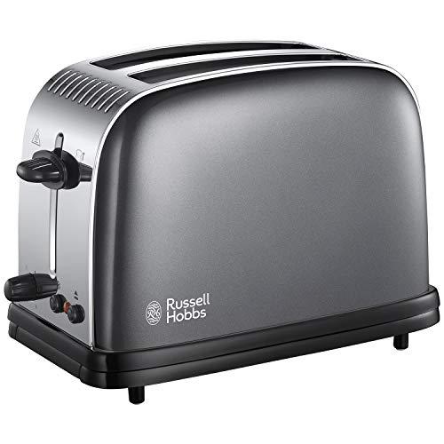 Russell Hobbs 23332 Stainless Steel 2 Slice Toaster, Grey