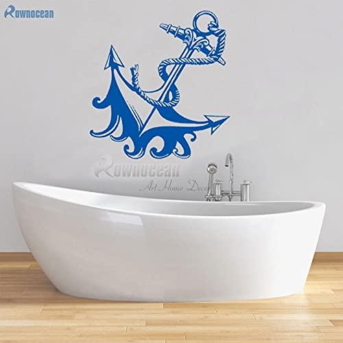 Decoración náutica para el hogar, pegatinas de anclaje para pared, muebles de baño, azulejos decorativos de vinilo para niños, murales para puertas, papel tapiz para niños-S