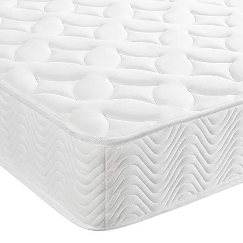 Yaheetech 4ft 6 Double Mattress Medium Firm Pocket Spring/Sprung Thick Spong Top Mattress 135x190 cm