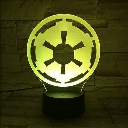Ruota astratta Mood Novità 3D LED Night Light Lampada da tavolo Decorazione da comodino Regalo per bambini