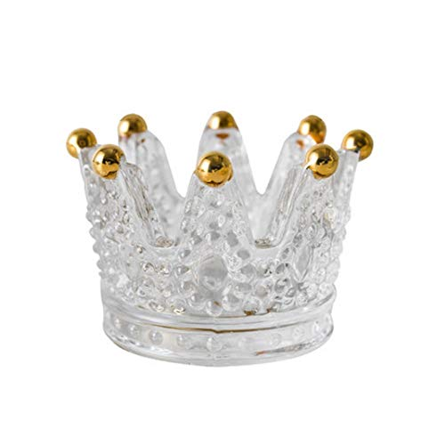 YBWEN asbak Crown asbak leuke hoofddecoratie werkkamer woonkamer gedroogde fruitschaal decoratie asbak glas asbak