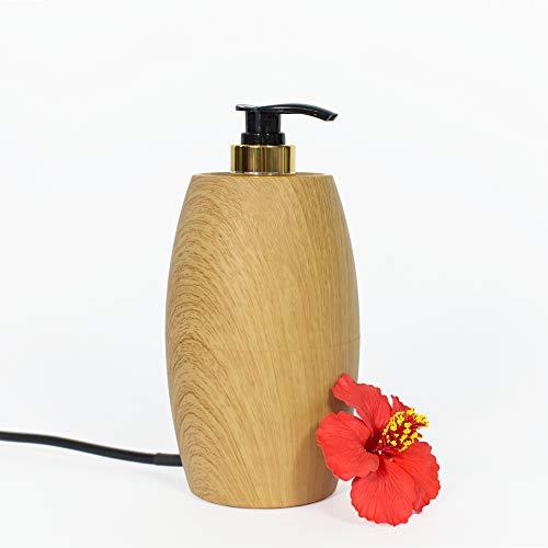 Pacific Spirit PRO MASSAGE – Massageölwärmer Grazia, helle Naturholz-Optik I Elektrischer Massageöl-Erwärmer mit Pump-Flasche I Hochwertiges Massage Zubehör zum Massageöl erwärmen …