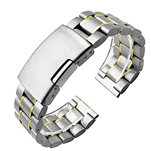 Correa Metálica de Reloj Correa de acero inoxidable 14 mm 16 mm 18 mm 19 mm 20 mm 21 mm 22 mm 24 mm 26mm Metal reloj de reloj de reloj de metal Pulsera reloj de reloj negro plata oro Correa Reloj