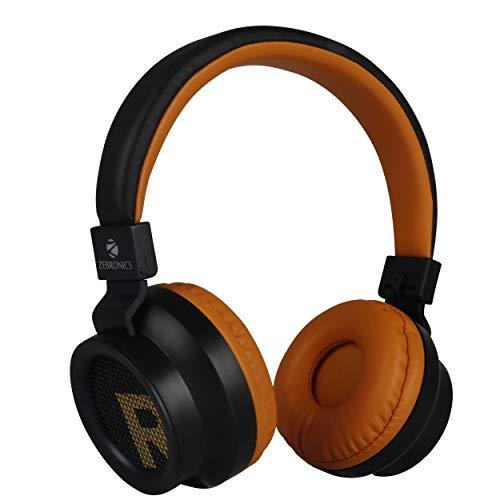Zebronics Zeb-Bang Bluetooth Headphone with Voice Assistant (Orange)
