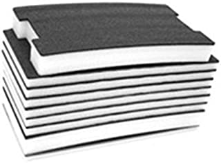 """FastCap FOAM20BW 2' x 4' 20MM Kaizen Black/White Foam with 1/8"""" Layered Section"""