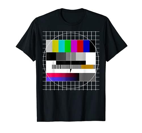 80er 90er Jahre Party Analoger Fernseher Testbild Geschenk T-Shirt