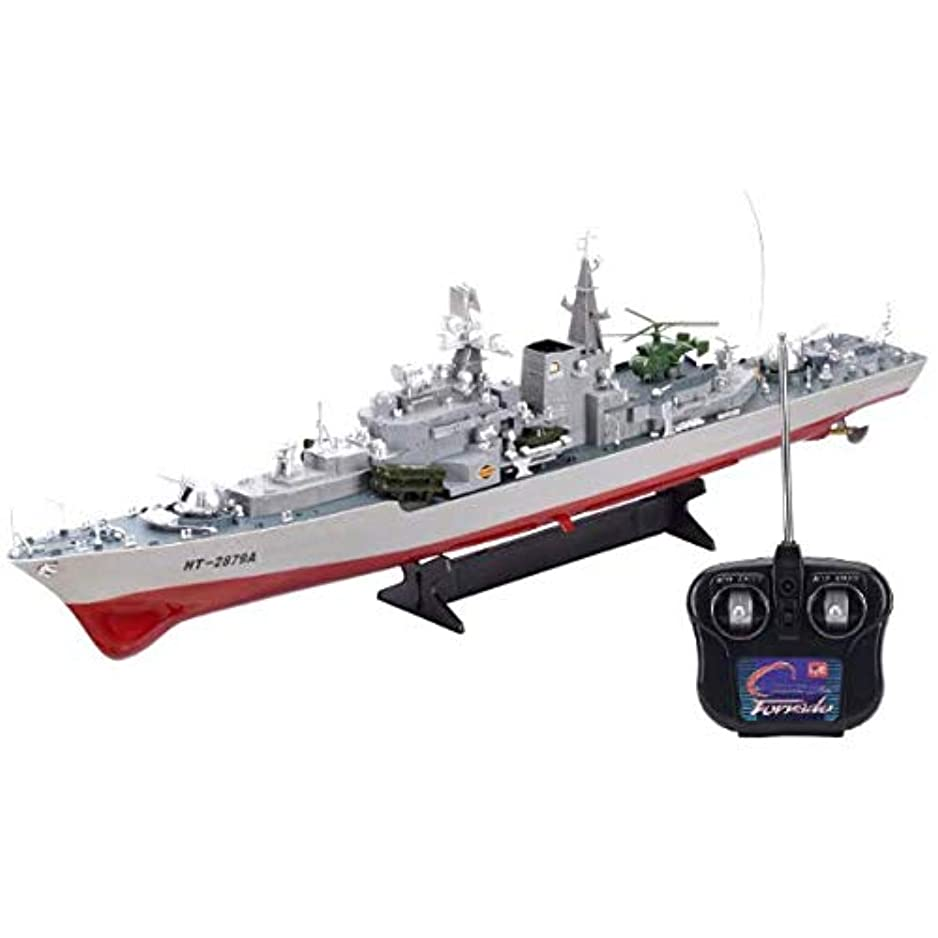 実用的タイムリーな奇跡リモート&アプリ制御の船舶、リモートコントロールボート、リモートコントロール船大型軍艦ミサイル駆逐艦空母ミリタリーモデル子供のおもちゃ