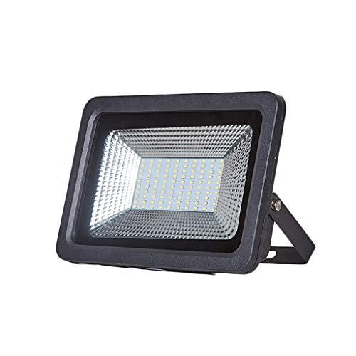 FINDYU Focos LED Exterior Impermeable Anticorrosión Robusto Multiuso Paisaje Lámpara De Seguridad por Almacén Patio De Recreo Jardín Floodlight (Color : Luz Calida, tamaño : 50W)