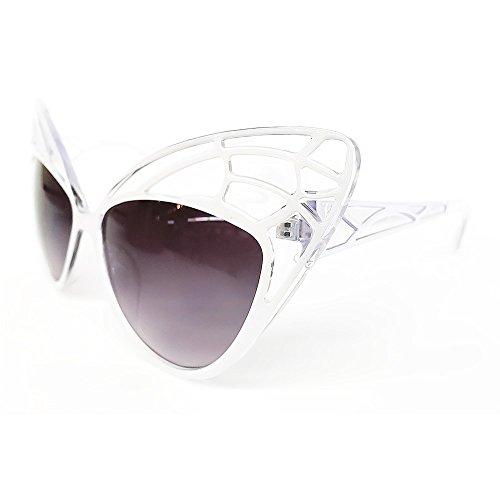 KISS Gafas de sol CAT EYE mod. BUTTERFLY - mujer fashion STRAVAGANTI vintage rockabilly - BLANCO