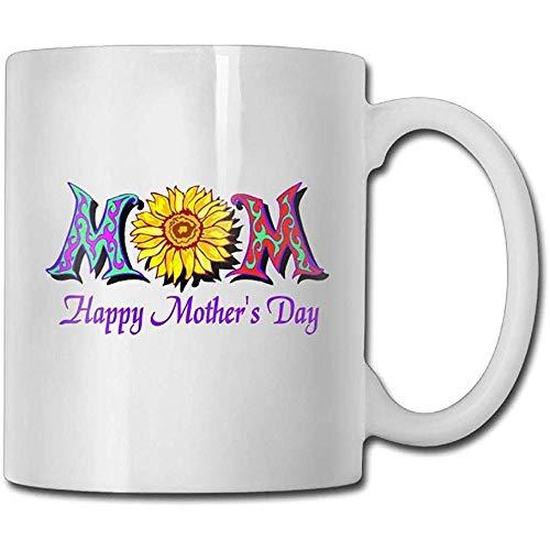 Taza de café de cerámica con flores coloridas de 325 ml, regalo ideal para familia y amigos