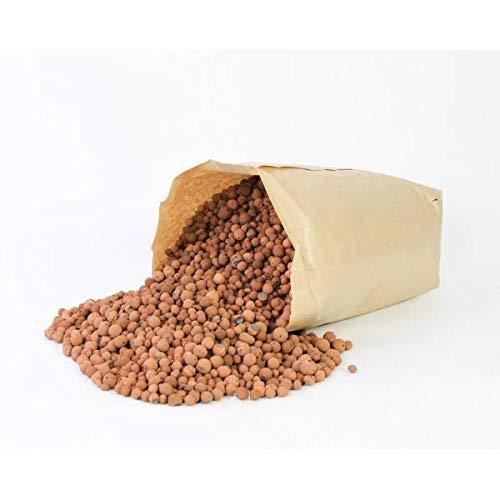 artplants.de Blähton Kugeln - Pflanzton, braun, 40 Liter, 16kg - Hydrokultur - Pflanzgranulat