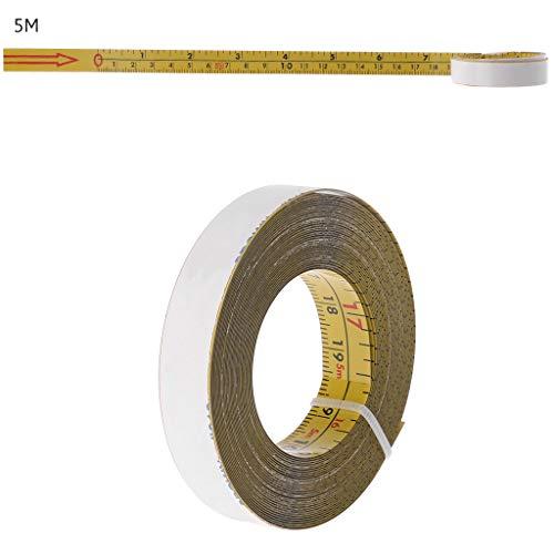 PINH-lang Maßband,Inch & Metric Selbstklebendes Maßband Stahl Gehrungssäge Waage Gehrungsschienenlineal