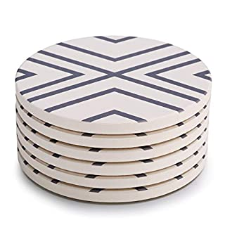 Lifver 6-Piece Absorbent Stone Coaster Set, Drink Spills Coasters, Grey-Lines (B06XCP87JX) | Amazon price tracker / tracking, Amazon price history charts, Amazon price watches, Amazon price drop alerts