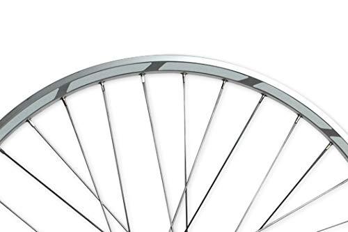 reflecto Reflektoren-Aufkleber fürs Fahrrad in weiß - 40 Streifen im Set - optimal für 27,5″ 28″ und 29″ Felgen - selbstklebend und weiß reflektierend - Sticker aus robuster 3M™ Qualitäts-Reflexfolie