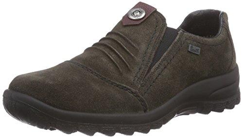Rieker Damen L7174 Sneaker, Grau (graphit/wine/45), 37