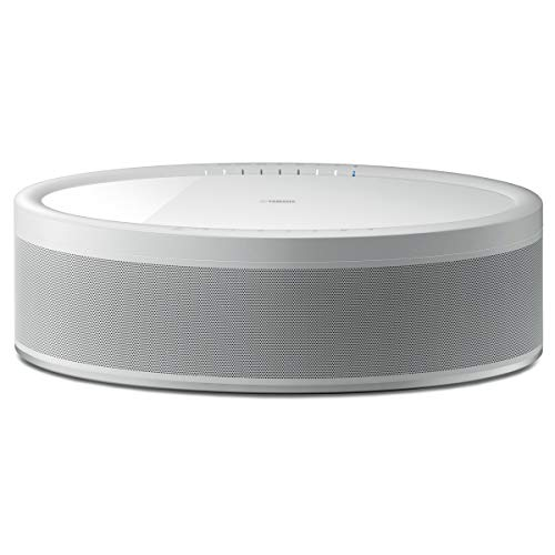 Yamaha MusicCast 50 Wireless Speaker for Streaming Music, Compatible with Alexa (White)