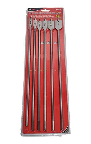 6-Pack Wood Spade Paddle Boring Drill Bits (16' Long)