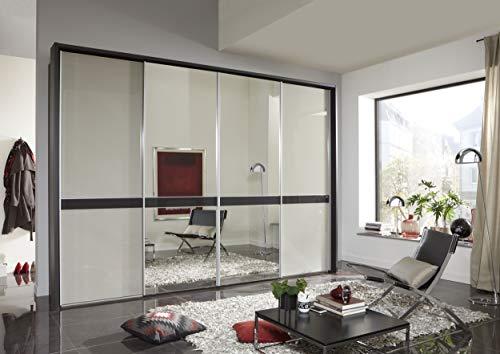 WIEMANN Rialto Passepartout-Rahmen, für Schwebetürenschränke, für Breite 330 cm, für Höhe 236 cm, Schlafzimmerschränke, Kleiderschränke, grau, B/H/T 340 x 240 x 23 cm