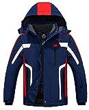 Wantdo Men's Mountain Snowboard Jacket Outdoor Warm Winter Coats Blue L