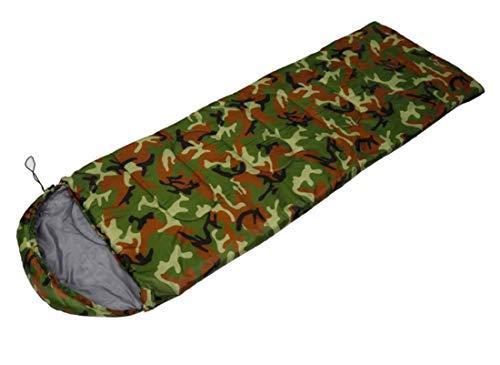 Beneyond Saco de Dormir de Camuflaje, Saco de Dormir de Estilo Sobres con Sombrero, 0~15 ° C, Esencial para Todas Las Estaciones