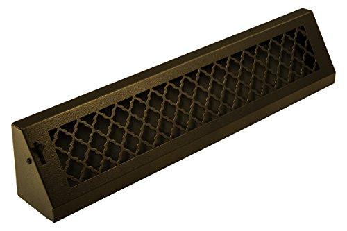 SteelCrest BTU24BBSORB Series Designer Baseboard Vent with Air-Volume Damper, Oil Rubbed Bronze