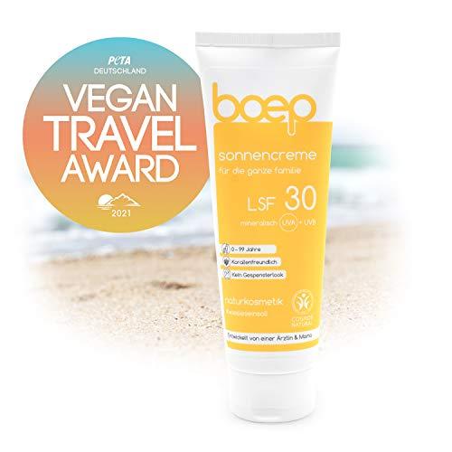 boep Crème Solaire Bio SPF30 - Protection Solaire Minérale sans Nanoparticules ni Film Blanc - Respecte l'Océan et les Coraux (100 ml)