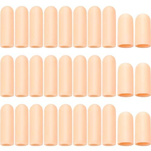 30 Piezas Protector de Dedos de Gel Funda de Dedos de Mano de Silicona Manga de Dedos para Agrietamiento de Dedo Gatillo de Dedo