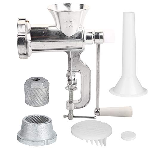 Changor Picadora de Carne, ergonomía Accesorio para picadora de Carne de 5 cm de Ancho con aleación de Aluminio (Plata)