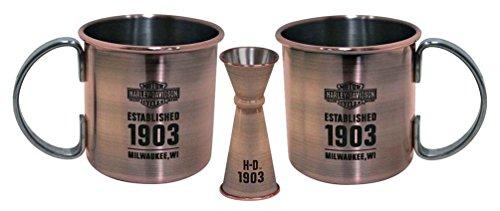 Harley-Davidson Moscow Mule Set, Antique Copper Finish, 16 oz. HDL-18609