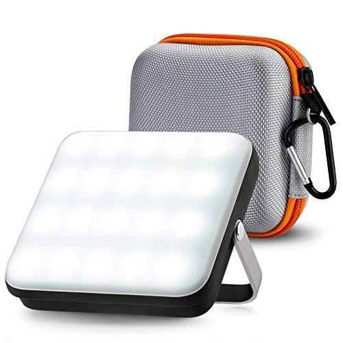 Foco LED Recargable, eventek Power Bank Portatil 10000 mAh, Lampara Camping 800LM, Linterna Camping con 5 modos de luz, para tienda, camping, huracán, senderismo, emergencia, apagón