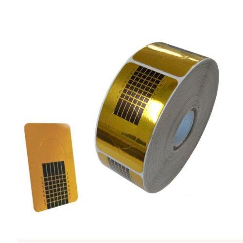 Agora-Tec® 500 Stück Nailart AT-Square-Gold Modellier Nagel Schablonen für Nailart NagelDesign Nagelmodellage zum Designen von künstlichen Fingernägeln mit UV Gelen