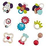 Fajiabao Sonaglio Neonato Montessori per Bambini - Sonagli Giochi Neonati Giocattoli Bambino Regalo Neonata Femmina Maschio 3 6 9 12 18 Mesi