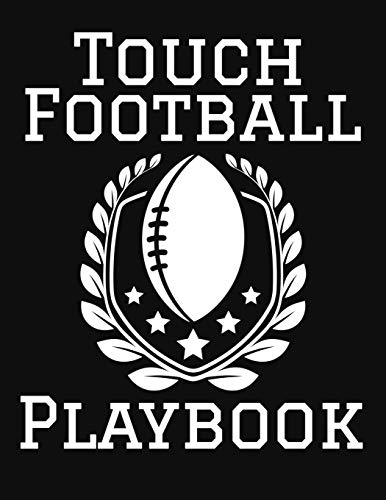 Touch Football Playbook: 2019-2020 Football Coaching Notebook, Blank Field Pages, Calendar, Game Statistics, Roster